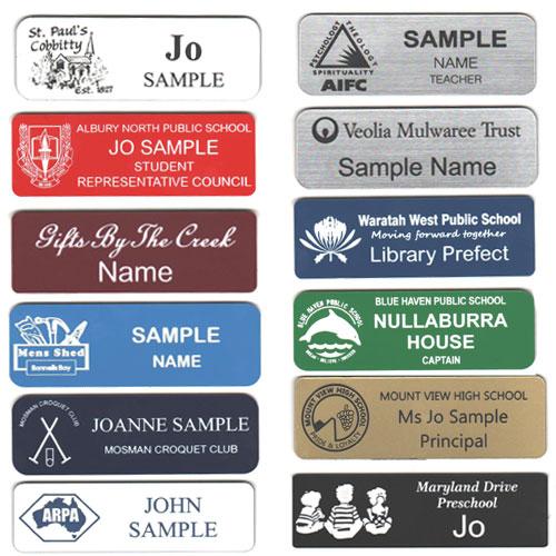 Crusader Industries | engraved name badges