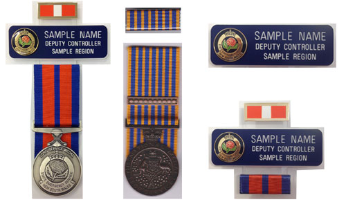 SES Name Plates , Replica SES Medals and Ribbons