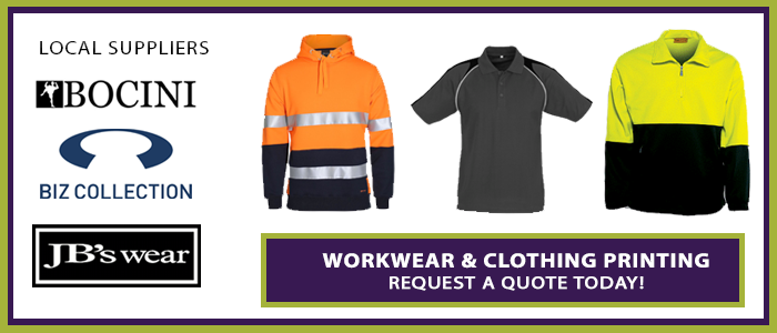 Crusader Industries Workwear & Clothing printing Australia